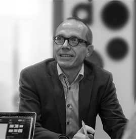 black and white picture of Marc Lott