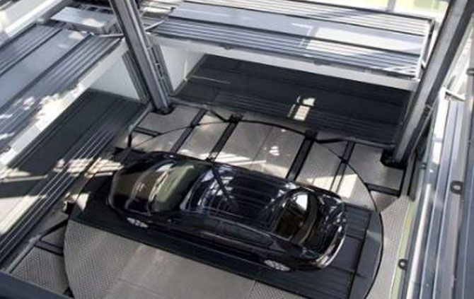Automated car park system for 20 up to 1000 cars